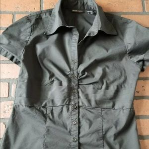 New York and company button down shirt womens 10